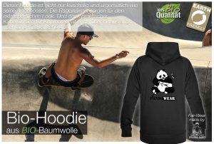 PandaWear Hoody, Skater, Oberkörperfrei, Mütze, Sonnenbrille, Bio-Kleidung