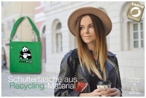 Tasche Panda-Wear grün mit Aufdruck