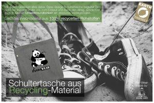PandaWear Sneaker, graue Tasche Fairtrade, Bio-Produtke